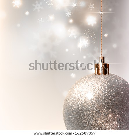 light christmas background with