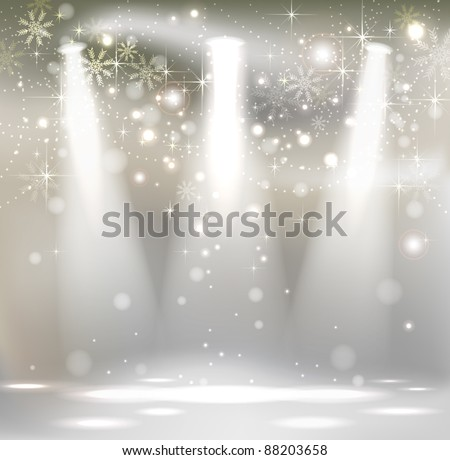 light christmas stage spotlight