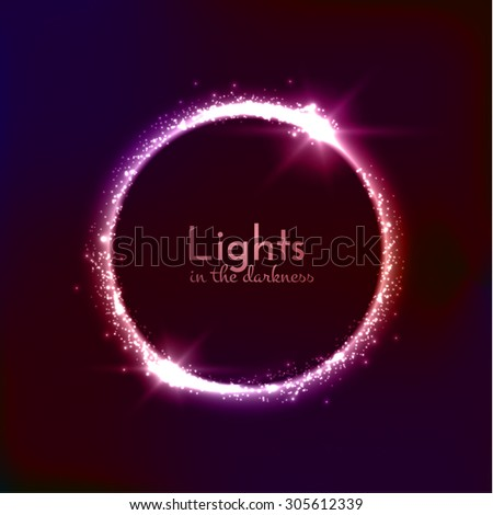 light circle background with