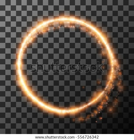 light circle from fire on