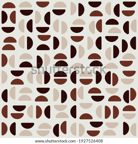 Light Color Background Coffee Pattern. Coffee Beans Vector Pattern. Coffee Half Beans Pattern.