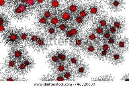 Light colored vector cover with sea urchins. Decorative design in natural style with sea urchins. The pattern can be used for wildlife ad, booklets.
