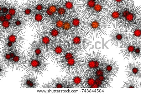 Light colored vector layout with sea urchins. Decorative design in natural style with sea urchins. The template can be used in natural magazines.