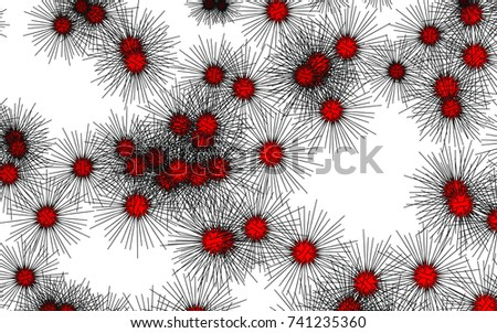 Light colored vector layout with sea urchins. Natural illustration with sea urchins on white background. Abstract nature design for your business advert.