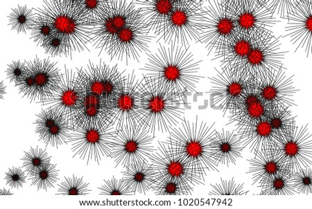 Light colored vector template with sea urchins. Decorative design in natural style with sea urchins. The pattern can be used for marine leaflets.