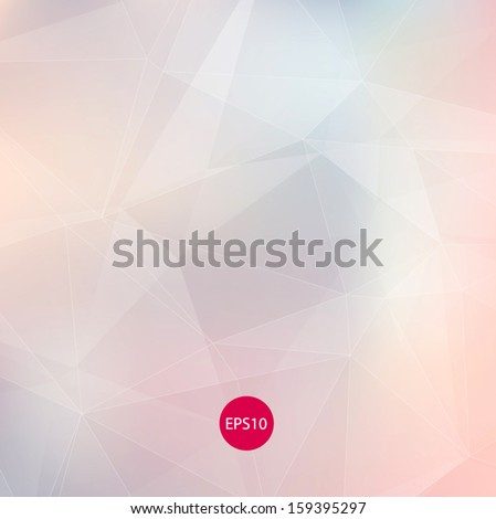 Light colors subtle pale vector abstract polygonal background. Modern and trendy geometric pattern. Smooth and light tones. For contemporary web and print design.