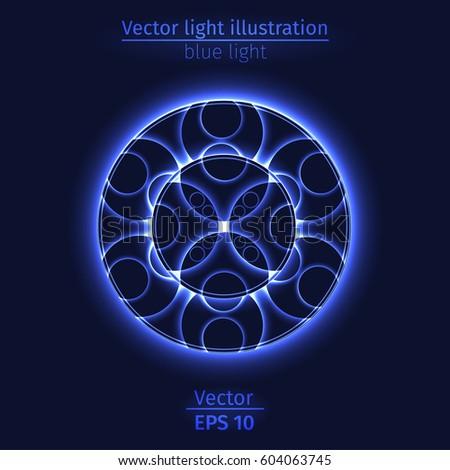 Light design round element accent mesh form particle | EZ Canvas