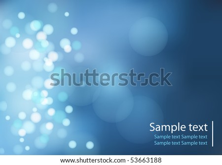 light dots on blue background with bokeh effect