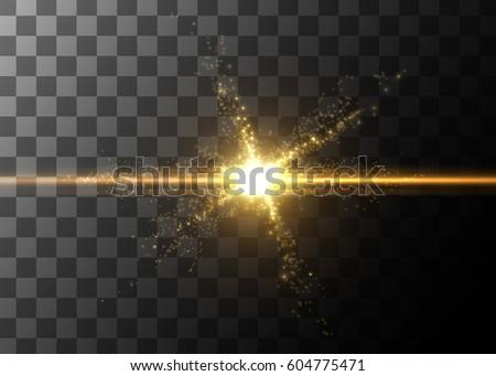 light effect  glowing flare