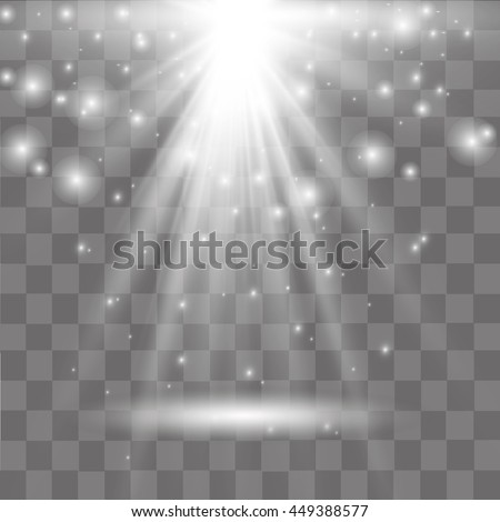 light effect in sky, explosion on transparent background.