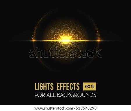 light effect of sun at horizon