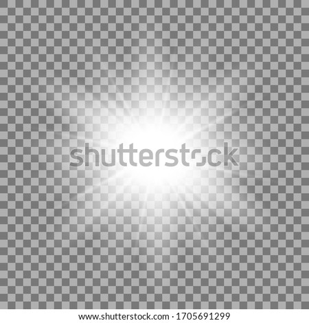 Light effects on a transparent background. Shine gradient glitter, bright flare. Sun texture. Vector illustration. Photo stock ©