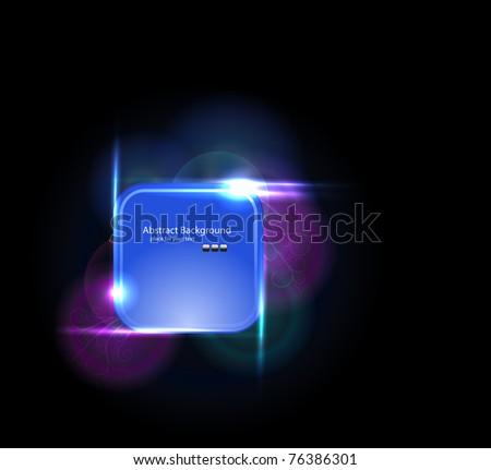 Light elements banner design