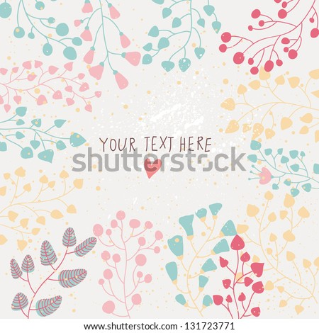 Light floral background in vector. Colorful spring natural invitation