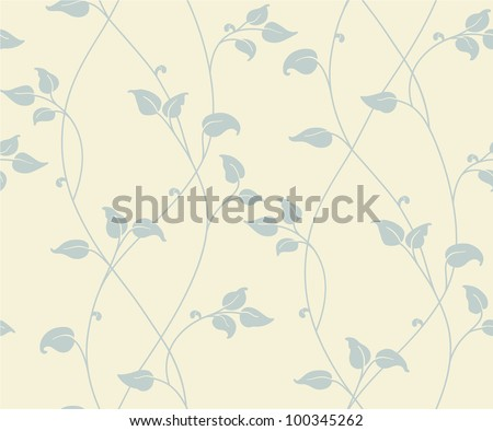 Light floral seamless pattern