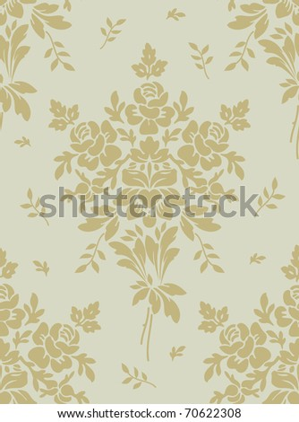 Light floral vintage seamless pattern for retro wallpapers
