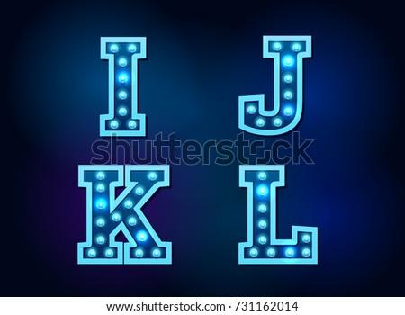 light font bulb text alphabet vector illustration