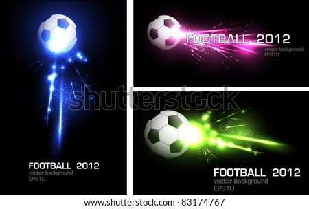 light football banner, easy editable
