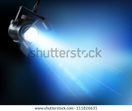 Light from a show. Vector illustration. - stock vector