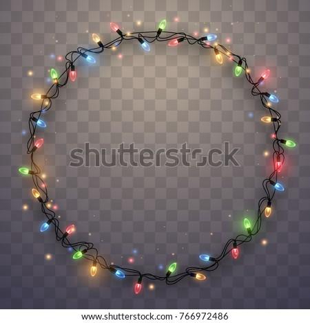 Stock Photo Light garland ring