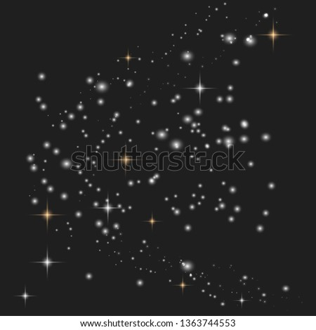 Light glow effect stars bursts with sparkles and dust. Vector sparkles on a transparent background. Christmas abstract pattern.  Vector illustration EPS10.