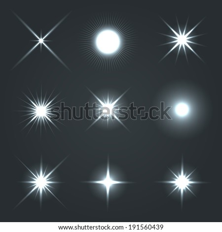 light glow flare stars effect