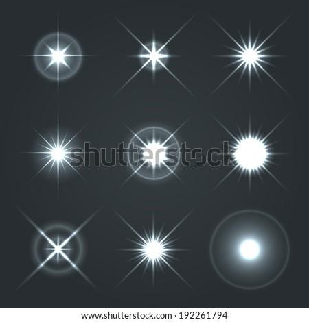 light glow flare stars effect