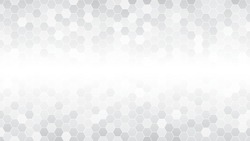 Light gray hexagonal mosaic background for business presentation. HD 16x9 vector pattern.