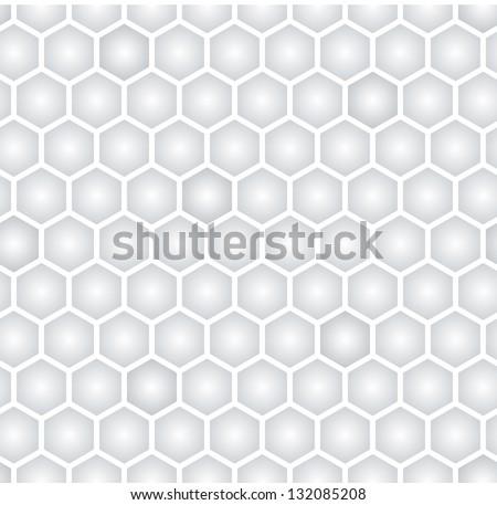 light gray hexagonal seamless pattern