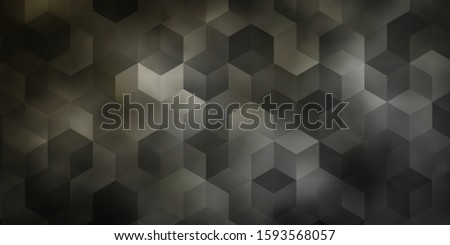 Light Gray vector background with hexagons. Colorful hexagons on blur backdrop. Pattern for texture of wallpapers.
