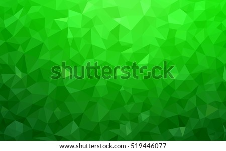 light green abstract polygonal