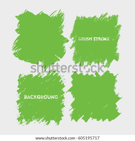 light green brush stroke frame