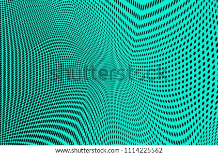 Light green halftone pattern. Gradient polka dots background. Modern vector illustration. Soft curves and lines. Dynamic backdrop. Dotted spotted pattern. Monochrome template for web design, covers #1114225562
