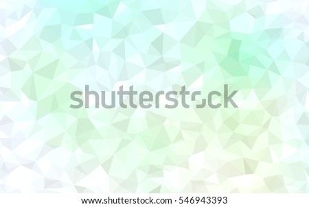 light green low poly crystal