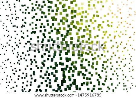 Light Green, Red vector background with rectangles. Rectangles on abstract background with colorful gradient. Modern template for your landing page.