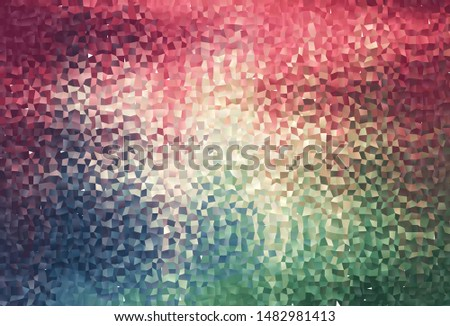 Light Green, Red vector background with rectangles. Rectangles on abstract background with colorful gradient. The template can be used as a background.