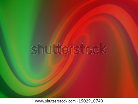 Light Green, Red vector blurred shine abstract background. Shining colorful illustration in a Brand new style. A completely new design for your business.