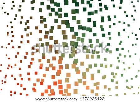 Light Green, Red vector layout with lines, rectangles. Rectangles on abstract background with colorful gradient. The template can be used as a background.