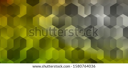 Light Green, Red vector pattern with colorful hexagons. Colorful hexagons on blur backdrop. Pattern for ads, leaflets.