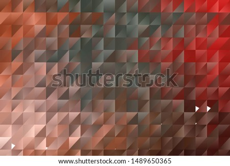 Light Green, Red vector shining triangular background. Shining polygonal illustration, which consist of triangles. Textured pattern for your backgrounds.