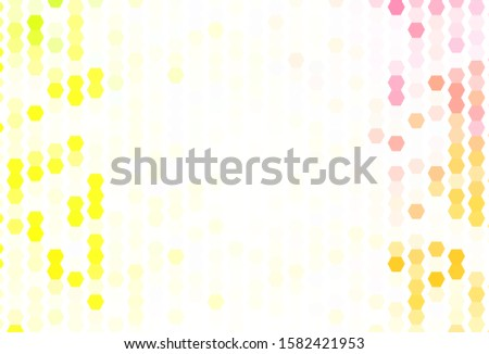 Light Green, Red vector texture with colorful hexagons. Colorful hexagons on blur backdrop. Pattern for ads, leaflets.