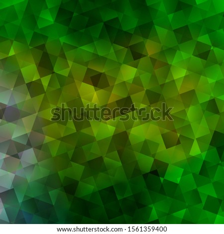Light Green vector backdrop with lines, rhombus. Lines, rhombus with colorful gradient. Best design for posters, banners.