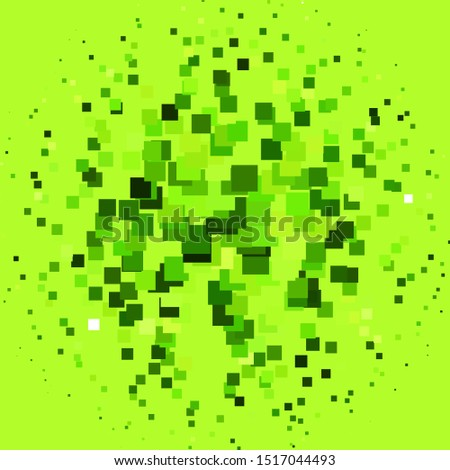 Light Green vector backdrop with rectangles. Rectangles with colorful gradient on abstract background. Pattern for commercials, ads.