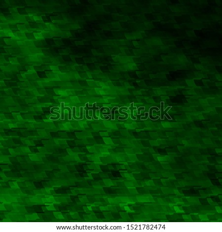 Light Green vector background in polygonal style. New abstract illustration with rectangular shapes. Pattern for commercials, ads.