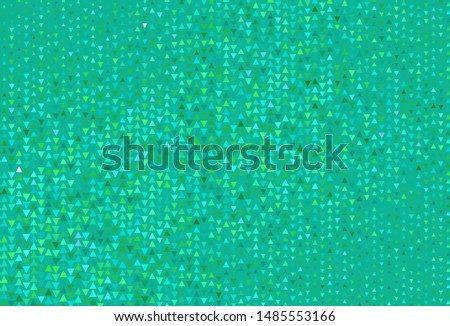 Light Green vector background with triangles. Triangles on abstract background with colorful gradient. Template for wallpapers.