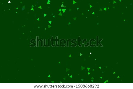 Light Green vector background with triangles. Triangles on abstract background with colorful gradient. Smart design for your business advert.