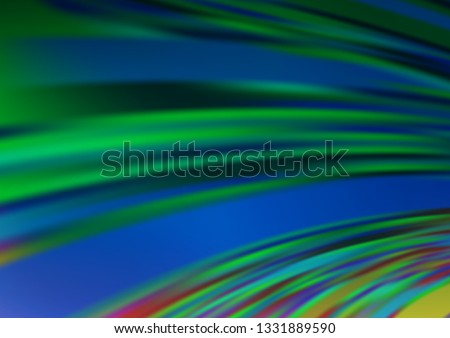 Light Green vector blurred bright background. Glitter abstract illustration with an elegant design. The elegant pattern for brand book.