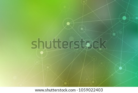 Light Green vector cover with spots, lines. Modern abstract colorful illustration with spheres and lines. New design for ad, poster, banner of your website.