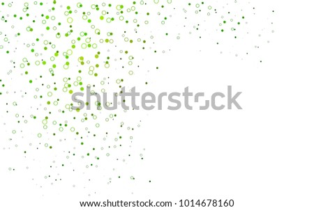 Light Green vector  layout with circle shapes. Abstract illustration with colored bubbles in nature style. Pattern can be used as texture of water, rain drops.
