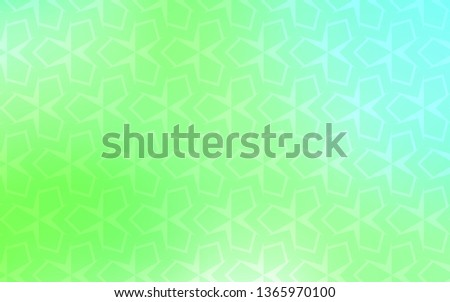 Light Green vector layout with lines, rectangles. Rectangles on abstract background with colorful gradient. The template can be used as a background.